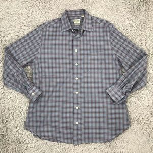 Gitman Bros Plaids Tailored Fit Shirt Mens L